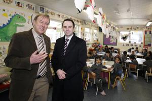 Principal Colm Mc Gleade and Daniel McEvoy, from RoanKabin modular buildings