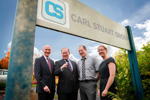 Conor Lenihan presents Carl Stuart Group with ISO standard