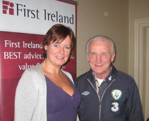Jillian with Giovani Trapattoni at the First Ireland annoucement