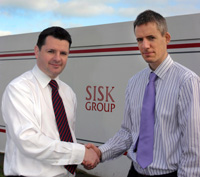 Eddie O'Rourke from Novosco and Daragh Doohan, Sisk Group IT