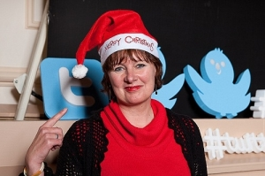 Jillian at the recording of #twitterxmassingle